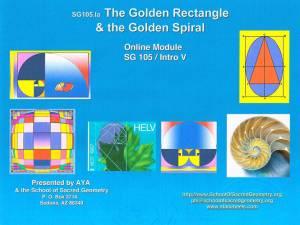 SG105 The Golden Rectangle & Golden Spiral