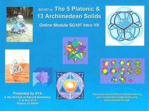 SG107 The Five Platonic & 13 Archimedean Solids