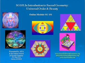SG101 Sacred Geometry: Universal Order & Beauty